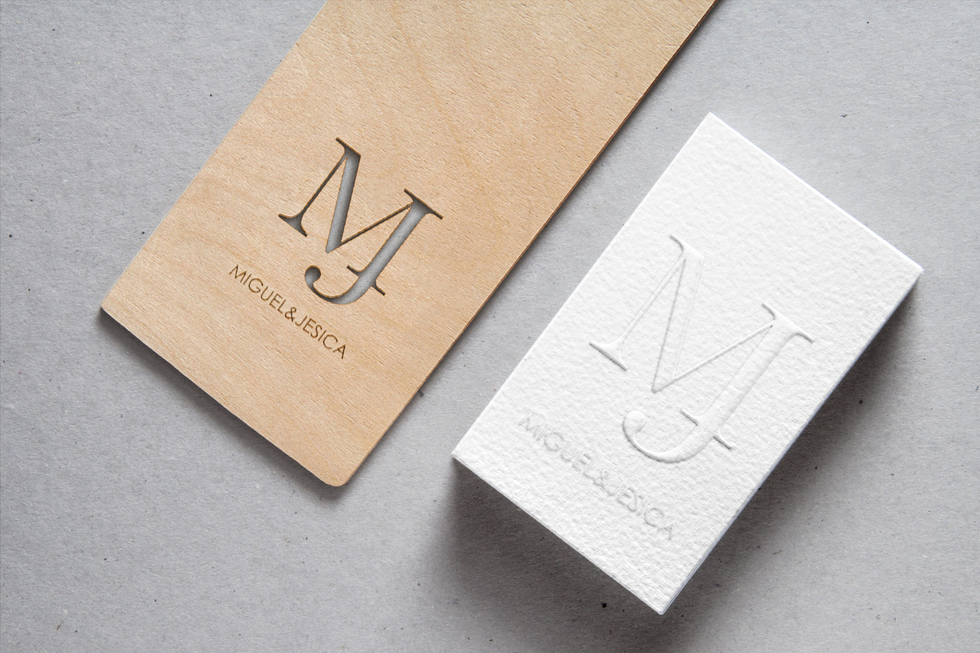 MJ - Wedding monogram